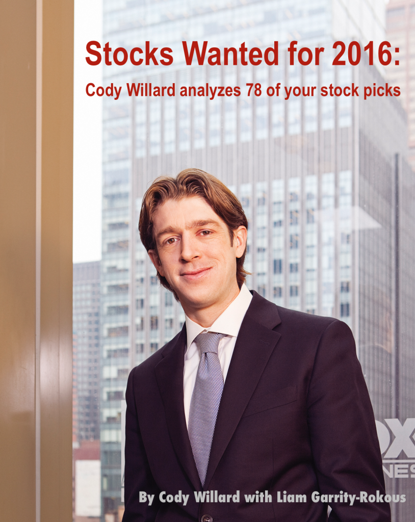 Stocks Wanted for 2016 cover